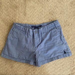 Polo Ralph Lauren Womens Blue Khaki Shorts Sz 4